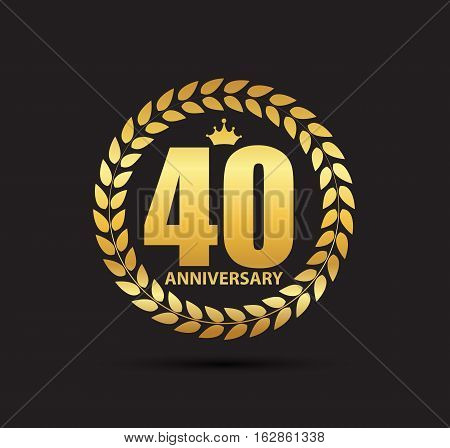 Template Logo 40 Years Anniversary Vector Illustration EPS10