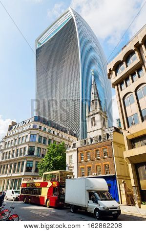 Skyscraper 20 Fenchurch Street In London, Uk