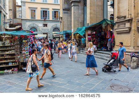 Historic Market Hall Loggia Del Mercato Nuovo In Florence, Italy
