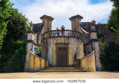 Historic Structure In Boboli Gardens In Florence, Italy