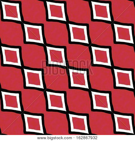 Red and black and white seamless zigzag decorative pop retro style unique pattern