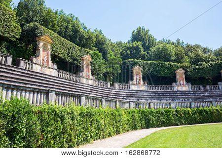 Boboli Gardens In Florence, Tuscany, Italy