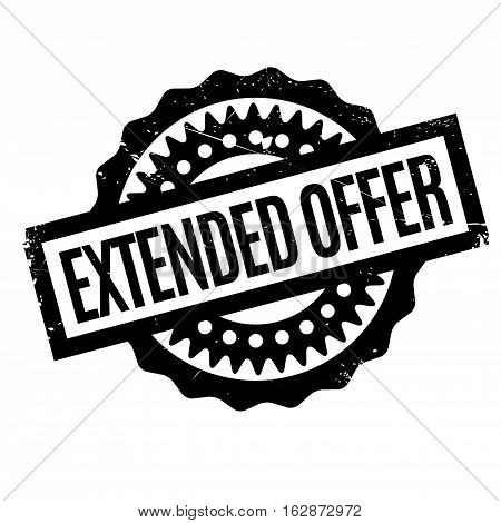 Extended Offer rubber stamp. Grunge design with dust scratches. Effects can be easily removed for a clean, crisp look. Color is easily changed.