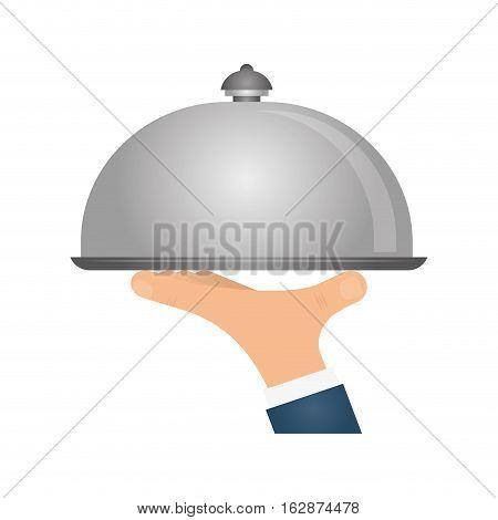 Waiter hand symbol icon vector illustration graphic design
