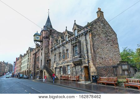 Canongate Tolbooth At The Royal Mile In Edinburgh, Scotland