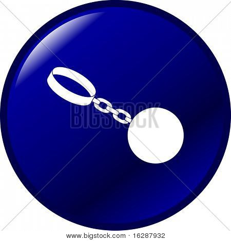ball and chain shackles button