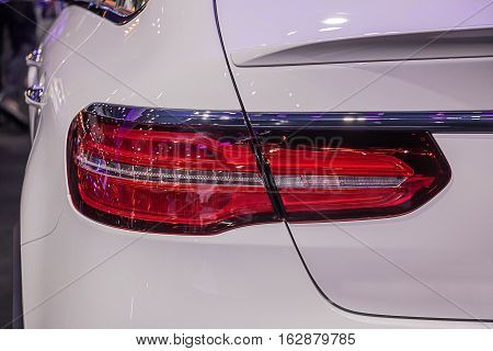 The Closeup Back Red Tail light car Reflection industry car
