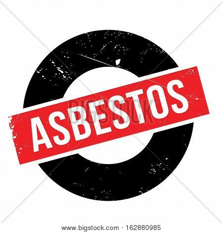Asbestos rubber stamp. Grunge design with dust scratches. Effects can be easily removed for a clean, crisp look. Color is easily changed.