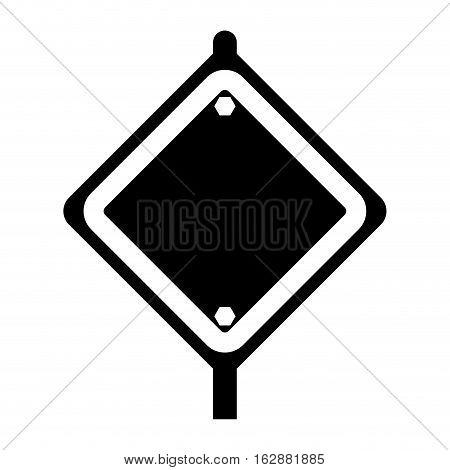 Under construction advertising board icon vector illustration graphic design