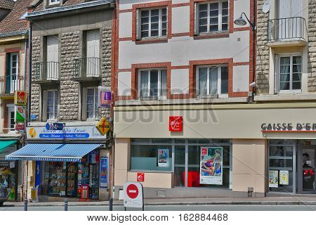 Neufchatel en Bray France - june 23 2016 : the city in summer