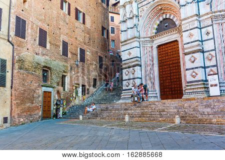 Backside Of The Siena Cathedral In Siena, Italy