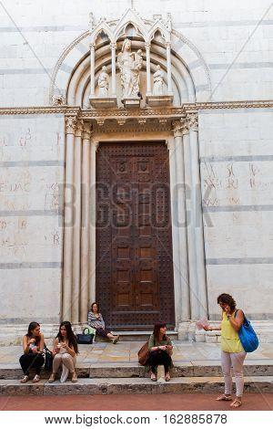 Church San Michele In Borgo In Pisa, Italy