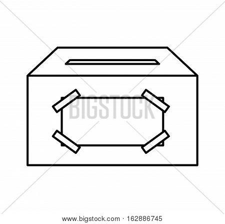 ballot box carton isolated icon vector illustration design