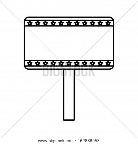 democratic banner isolated icon vector illustration design