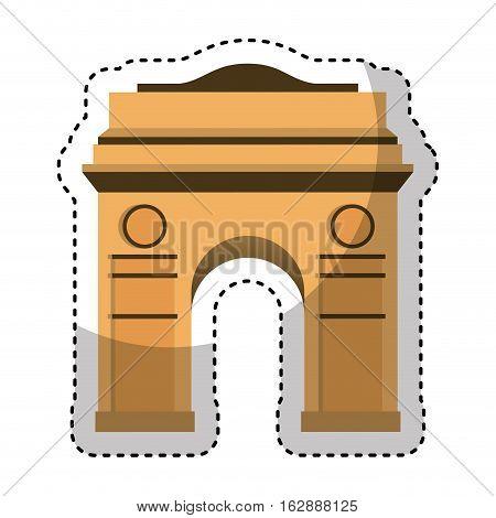 triumph arch isolated icon vector illustration design
