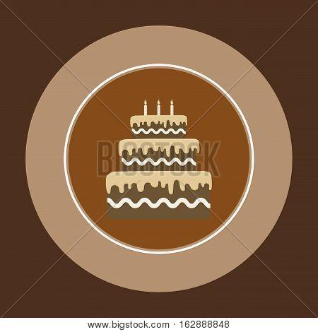 Delicious Cake and dessert icon vector illustration graphic design