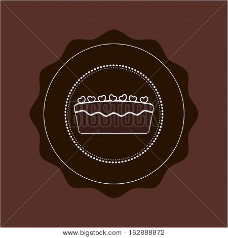 Delicious Cake and dessert icon vector illustration graphic design