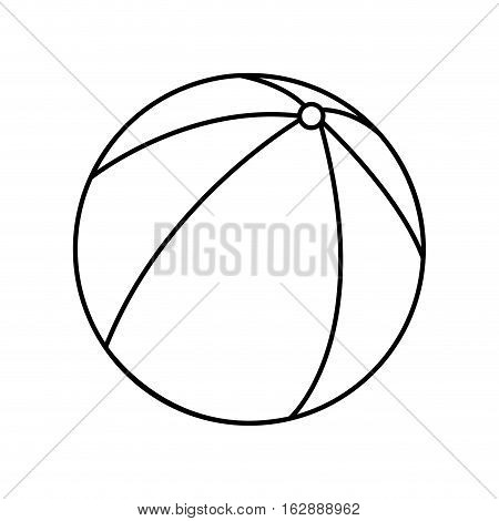 beach balloon air isolated icon vector illustration design