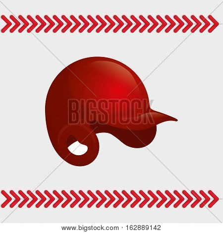 baseball sport hat icon vector illustration graphic design