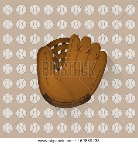 baseball ball and glove icon vector illustration graphic design