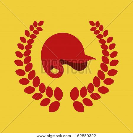 baseball hat wreath icon vector illustration graphic design