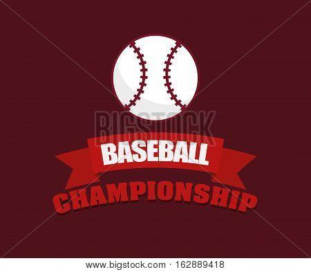 baseball championship ball icon vector illustration graphic design