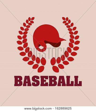 baseball hat wreath icon vector illustration graphic design