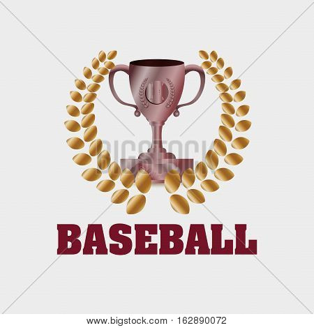 baseball cup championship icon vector illustration graphic design