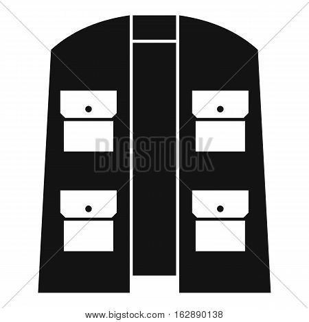 Simple illustration of hunter vest vector icon for web