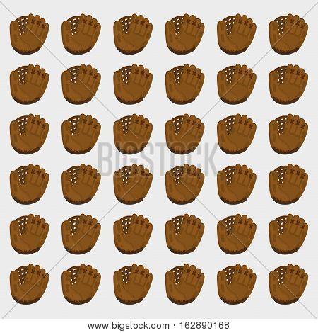 baseball leather glove background icon vector illustration graphic design