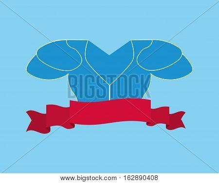 american football armour icon vector illustration graphic design