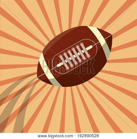 american football ball icon vector illustration graphic design