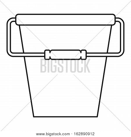 Outline illustration of bucket vector icon for web
