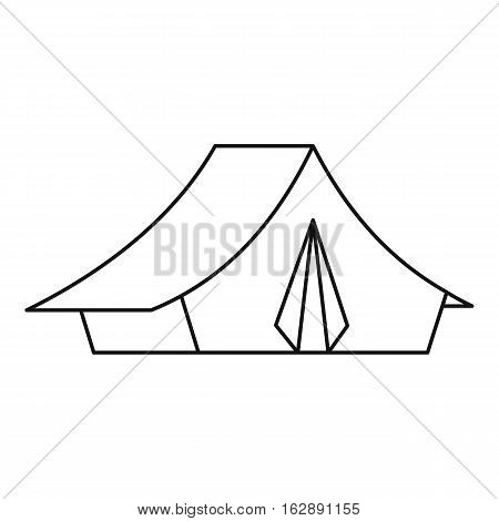 Tent icon. Outline illustration of tent vector icon for web