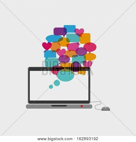 Chat bubble social media icon vector illustration graphic design