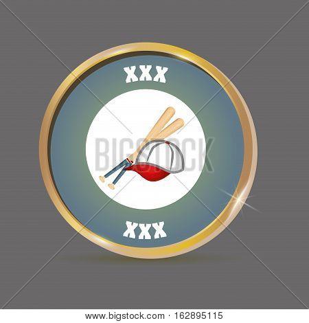 baseball hat bats icon vector illustration graphic design