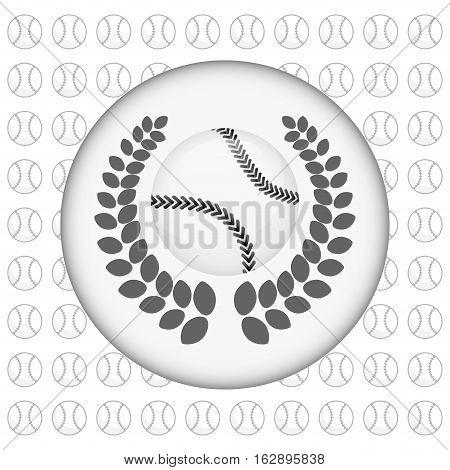 baseball ball wreath icon vector illustration graphic design