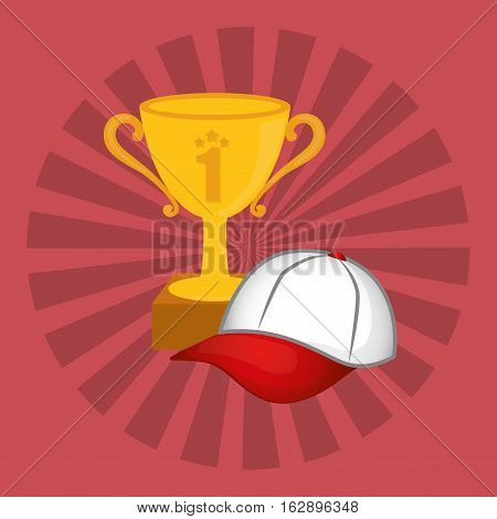 winner cup trophy icon vector illustration graphic design