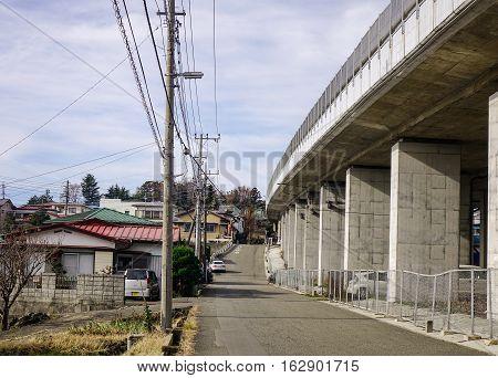 Highway In Tokyo Countryside, Japan