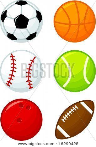 assorted sport balls poster