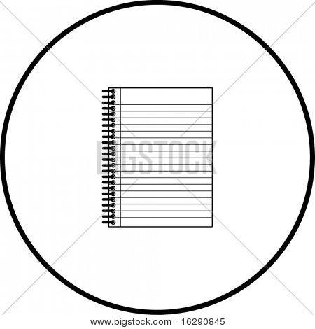 notebook symbol