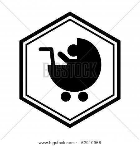 Baby pram children icon vector illustration graphic design