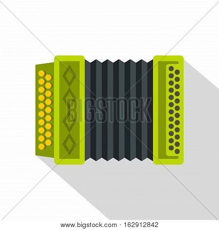 Accordion icon. Flat illustration of accordion vector icon for web isolated on white background