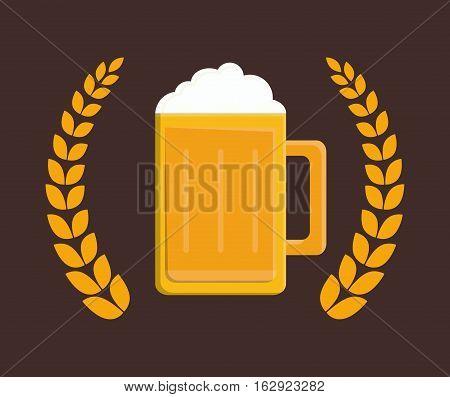 delicious cold beer icon vector illustration graphic design