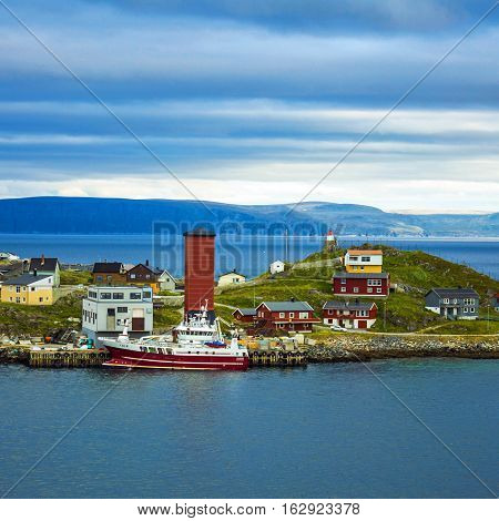 Honningsvag - northernmost city on the mainland of Norway beyond the Arctic Circle.