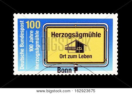 GERMANY - CIRCA 1994 : Cancelled postage stamp printed by Germany, that shows House and key.