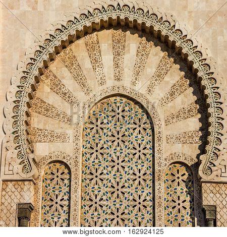 Doors in Mosque Hassan II Casablanca, Morocco