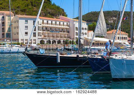 Sailing Yachts. Marina Of Bonifacio