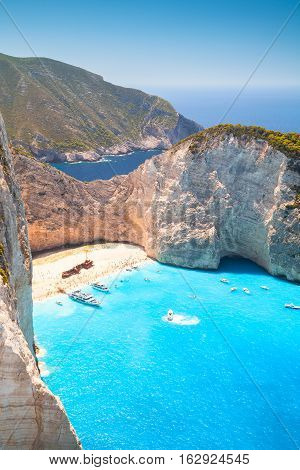 Navagio Bay And Ship Wreck Beach. Zante