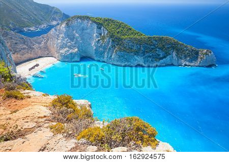 Ship Wreck Beach And Navagio Bay